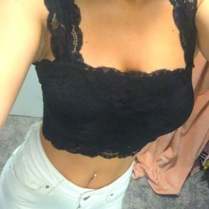 Guess lace crop top
